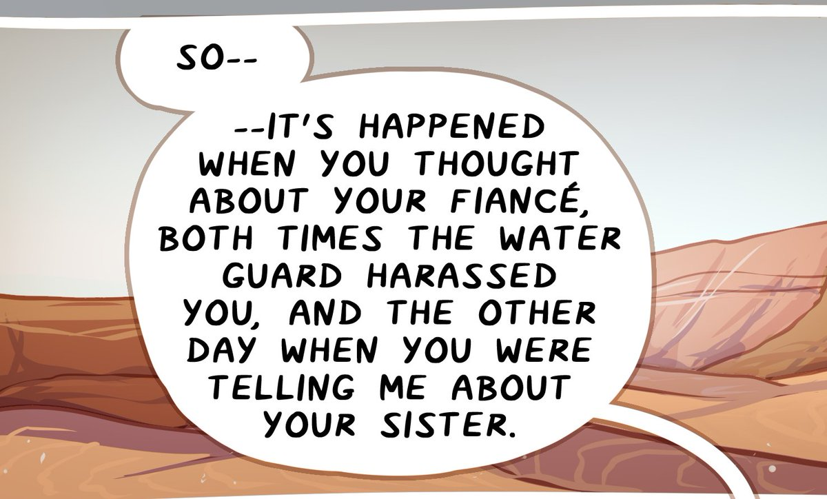 Hey hey PSA for readers who think Serin and Dija are talking about the cause of just Dija's hair glowing: