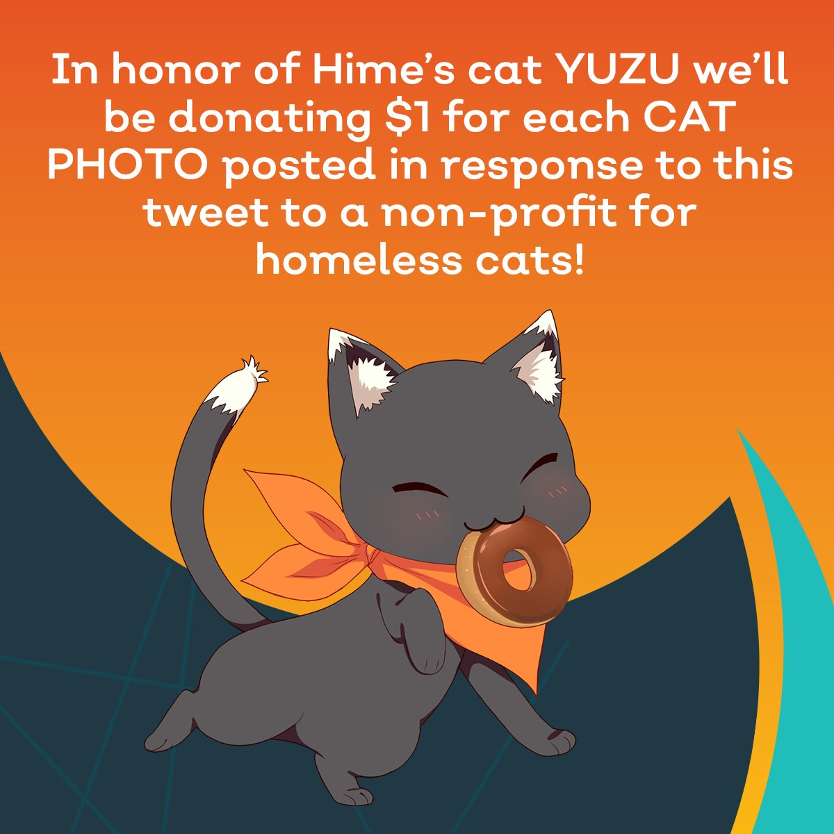 Happy #BlackCatAppreciationDay to Yuzu ~ ! To celebrate well be donating $1 for every cat photo posted in response to this tweet to @CatTownOak!!