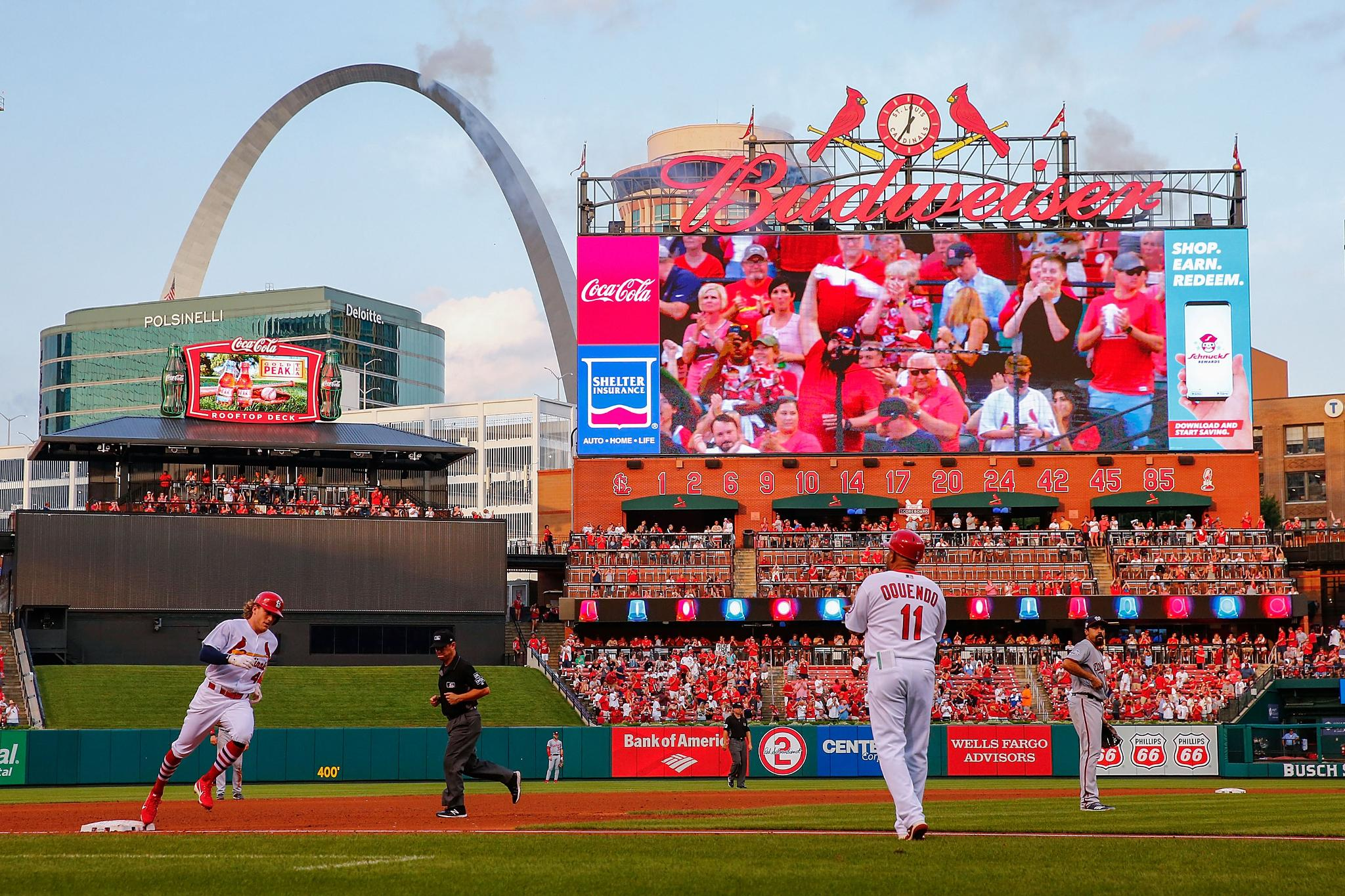 St Louis Cardinals On Twitter At Aybaybader Has Scored In 8