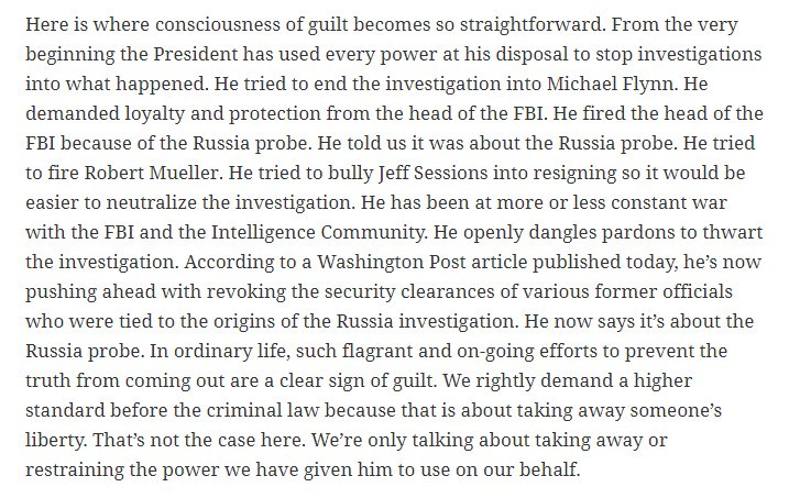 Trump's 'consciousness of guilt.' By @joshtpm https://t.co/DTPlcQ8I7u https://t.co/pfSmn7tY0Z