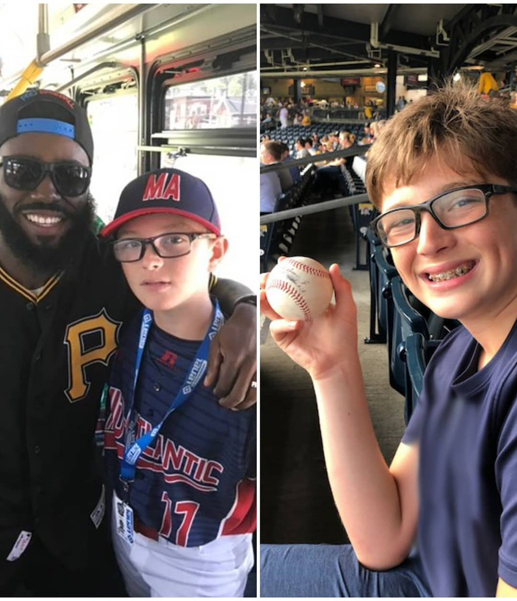 #LittleLeagueClassic ☑ @Pirates Game ☑ @jhay_da_man knows how to make this Little Leaguer's day.