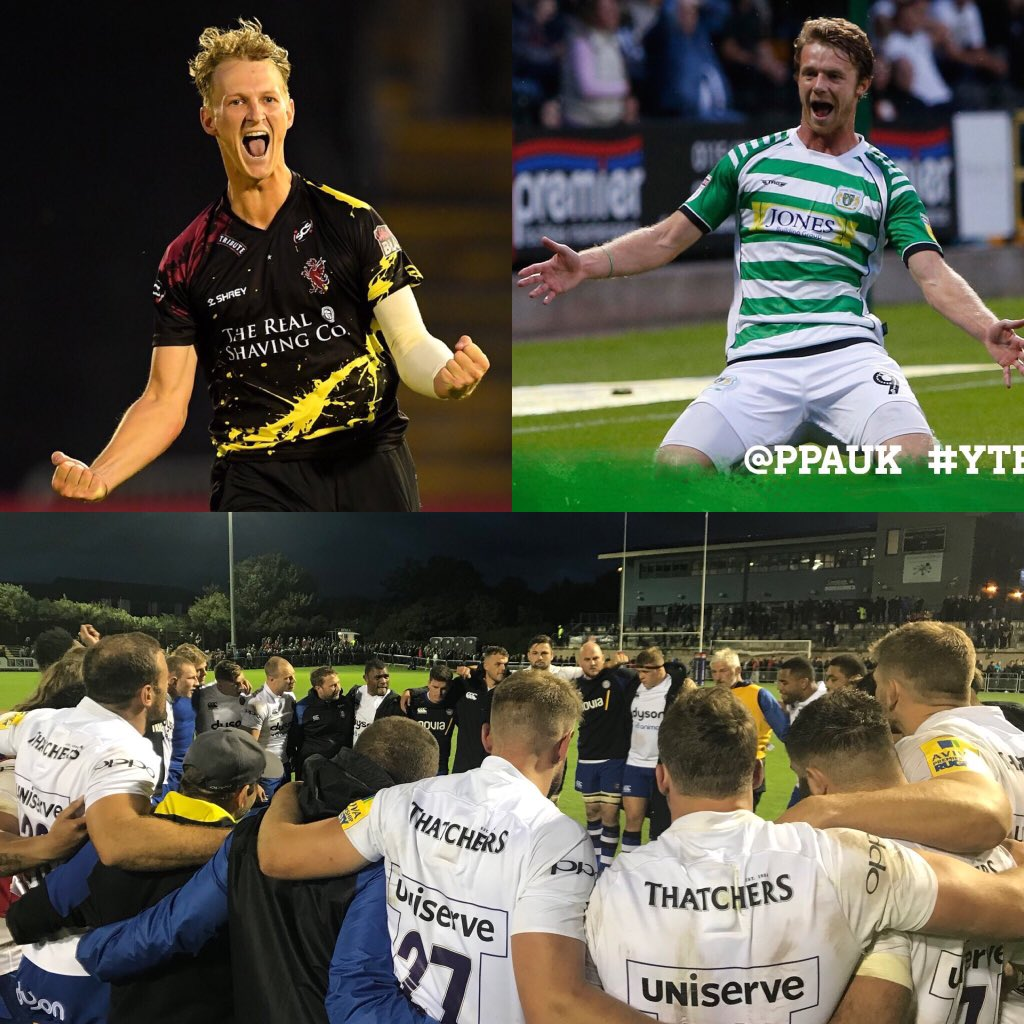 @SomersetCCC top the @VitalityBlast South Group  @YTFC smash 4 on the road  @bathrugby win first game of the season  #FridayFeeIing #Somerset <br>http://pic.twitter.com/UL17B50MLX