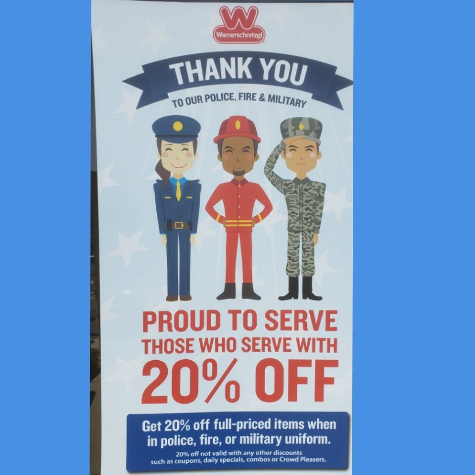 I guess I will be eating more chili dogs! Thank you @wienerschnitzel  #LawEnforcement #police #firefighters #Military #FirstResponders #Marines<br>http://pic.twitter.com/4uMVq7YUig