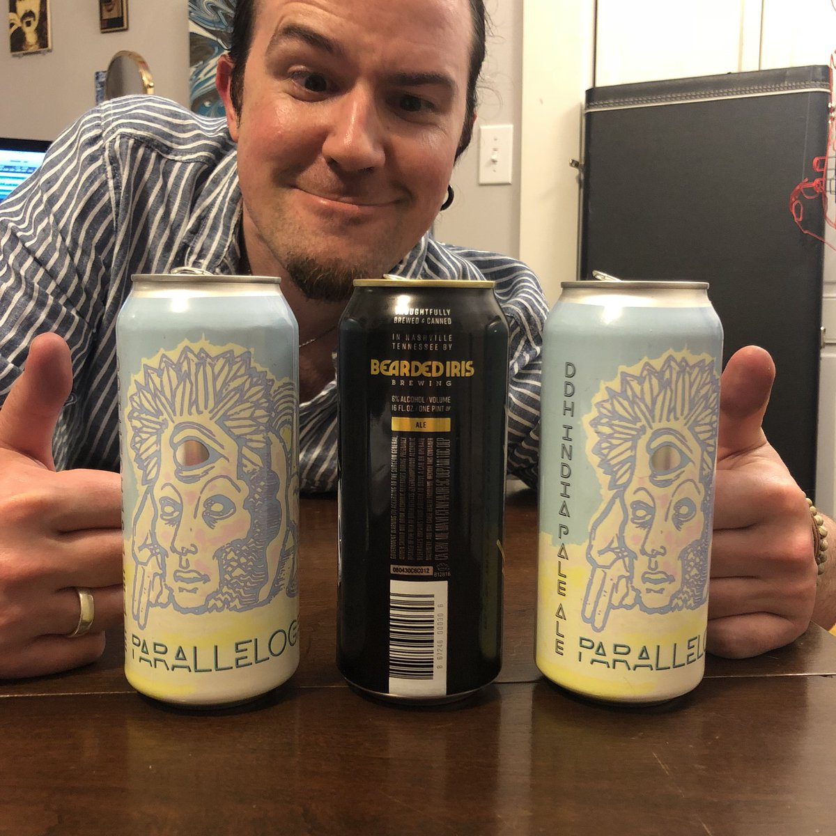 Our drink lineup for The Hills Have Eyes episode: @NewgrassBrewing Parallelograms @beardedirisbrew Homestyle IPA Special thanks to Nick Schotte of Newgrass for hooking us up with some free Newgrass beers. #horror #horrorfan #horrorfans #beer #beerreviews<br>http://pic.twitter.com/f0jivbr4iq