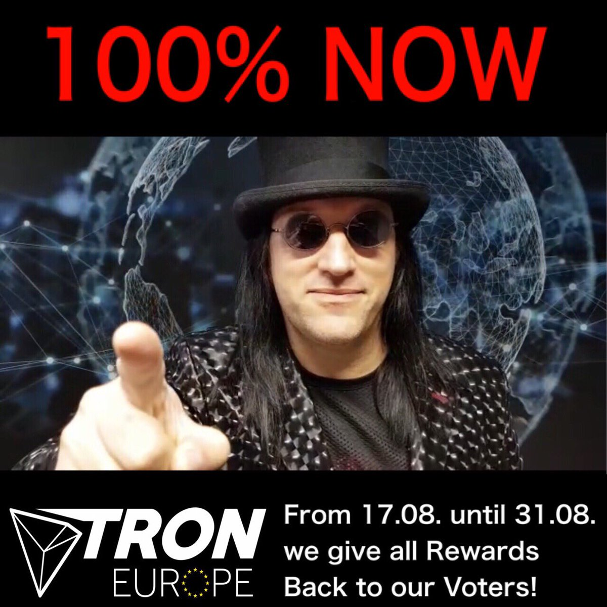 "Our first ""100% rewards back to you"" Airdrop just finished successfully.  We gave a little bit on top for this time to say thank you    Together we will reach the 100 million votes.  Vote for Infrastructure  @Tronfoundation @justinsuntron #TRX #TRON #TronSR $TRX $TRON<br>http://pic.twitter.com/e6W3r4EIdf"