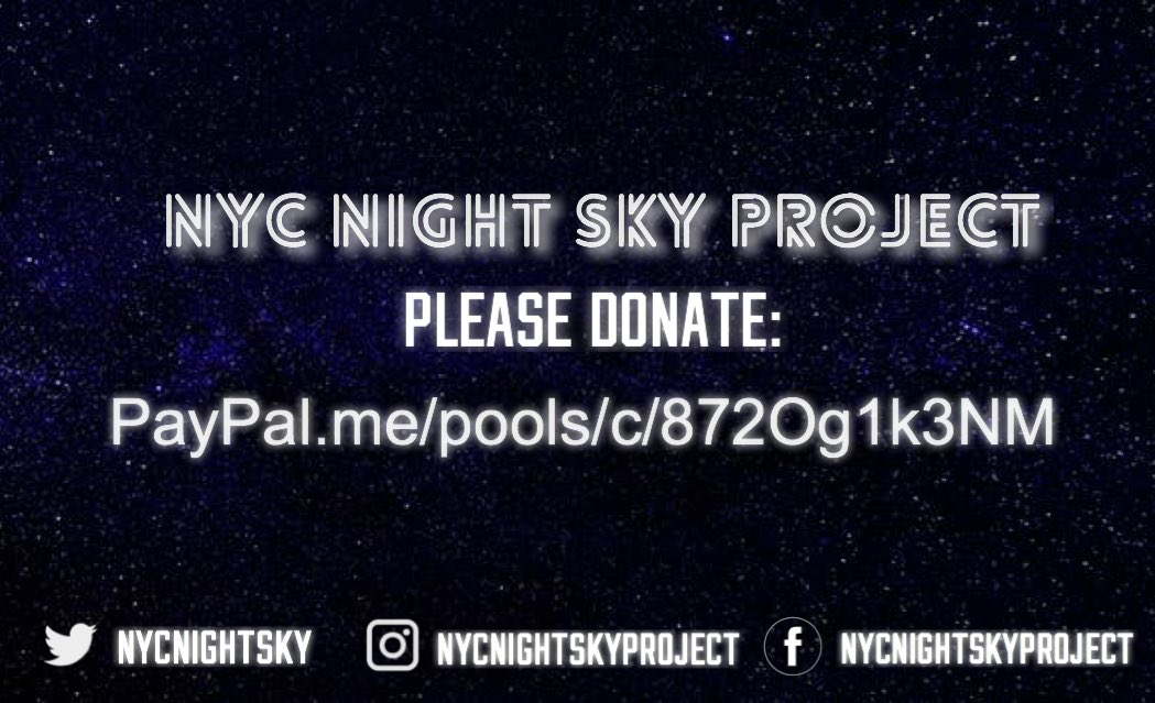 For anyone going to #BTSatCitiField please donate to the BigHit approved project @NYCNightSky   There's lots of work to do in just 7 weeks so please help out if you can.   Let's make it a night to remember!    http:// paypal.me/pools/c/872Og1 k3NM &nbsp; … <br>http://pic.twitter.com/eGBeNrB5nk