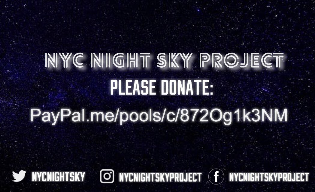 Now that we officially have tickets, this project is a-go!   Please donate at:   http:// paypal.me/pools/c/872Og1 k3NM &nbsp; …   Let's make #BTSatCitiField a night to remember!    #NYCNightSky<br>http://pic.twitter.com/JAykISxzin