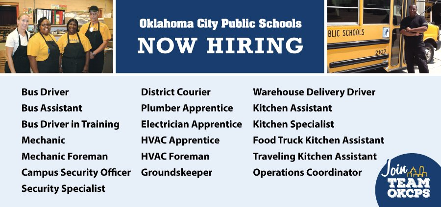 Warehouse Jobs In Okc >> Okc Public Schools On Twitter Are You Looking For A Job We Are