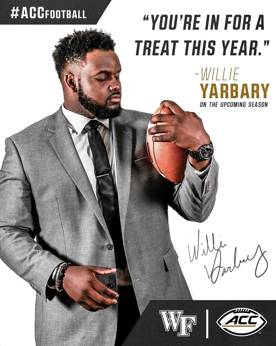 "ACC Football on Twitter: ""Willie Yarbary expects the @WakeFB fans to have a GREAT time this season! #ACCFootball #GoDeacs… """