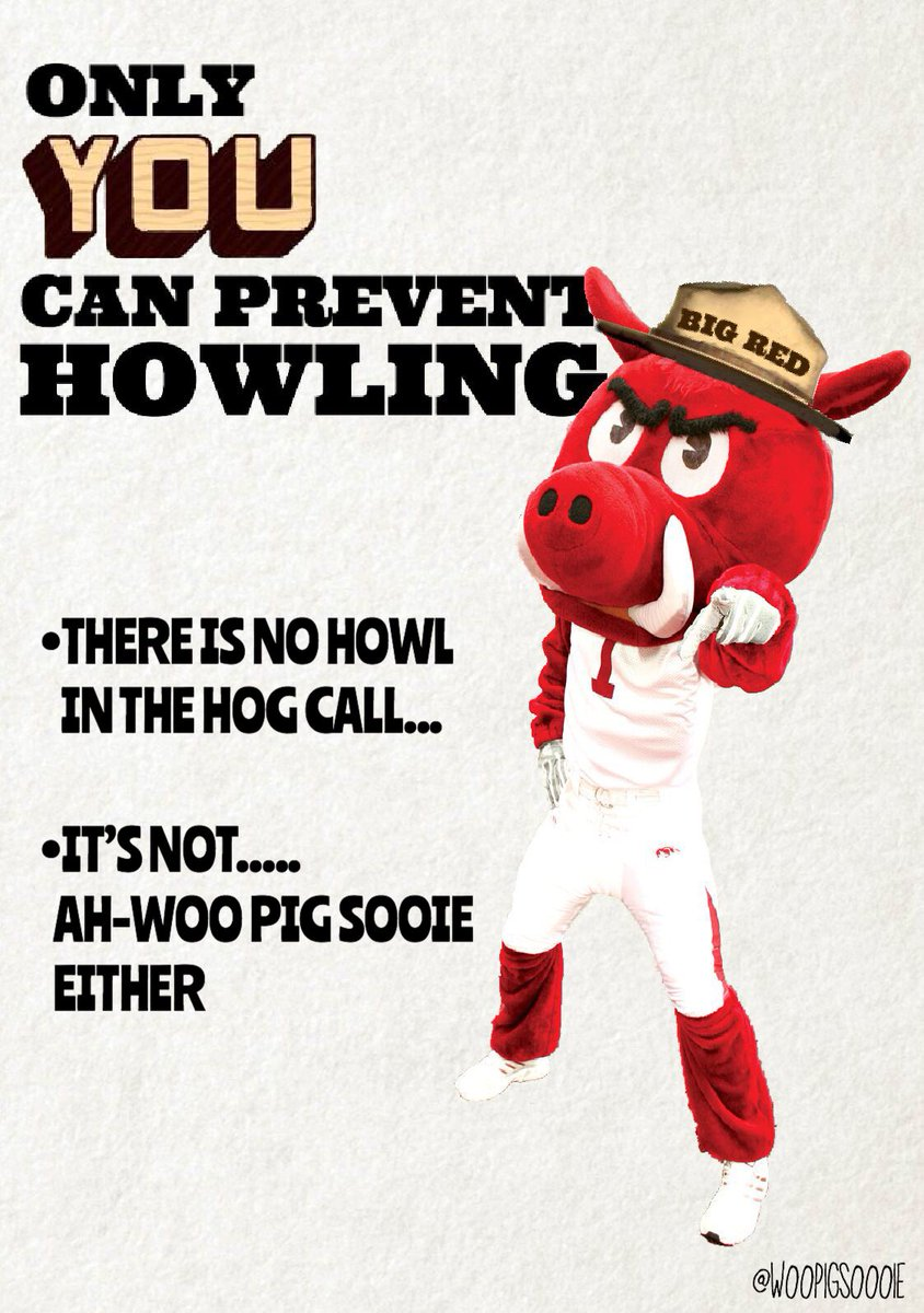 In case you haven't heard the University of Arkansas would like you to drop what your doing on August 31st at 1:00 PM to join in on the World's Largest Hog Call.  It's important to remember during this time that there is no howl in the Hog Call.  Thanks.  #WPS<br>http://pic.twitter.com/wVR3hi2tOx