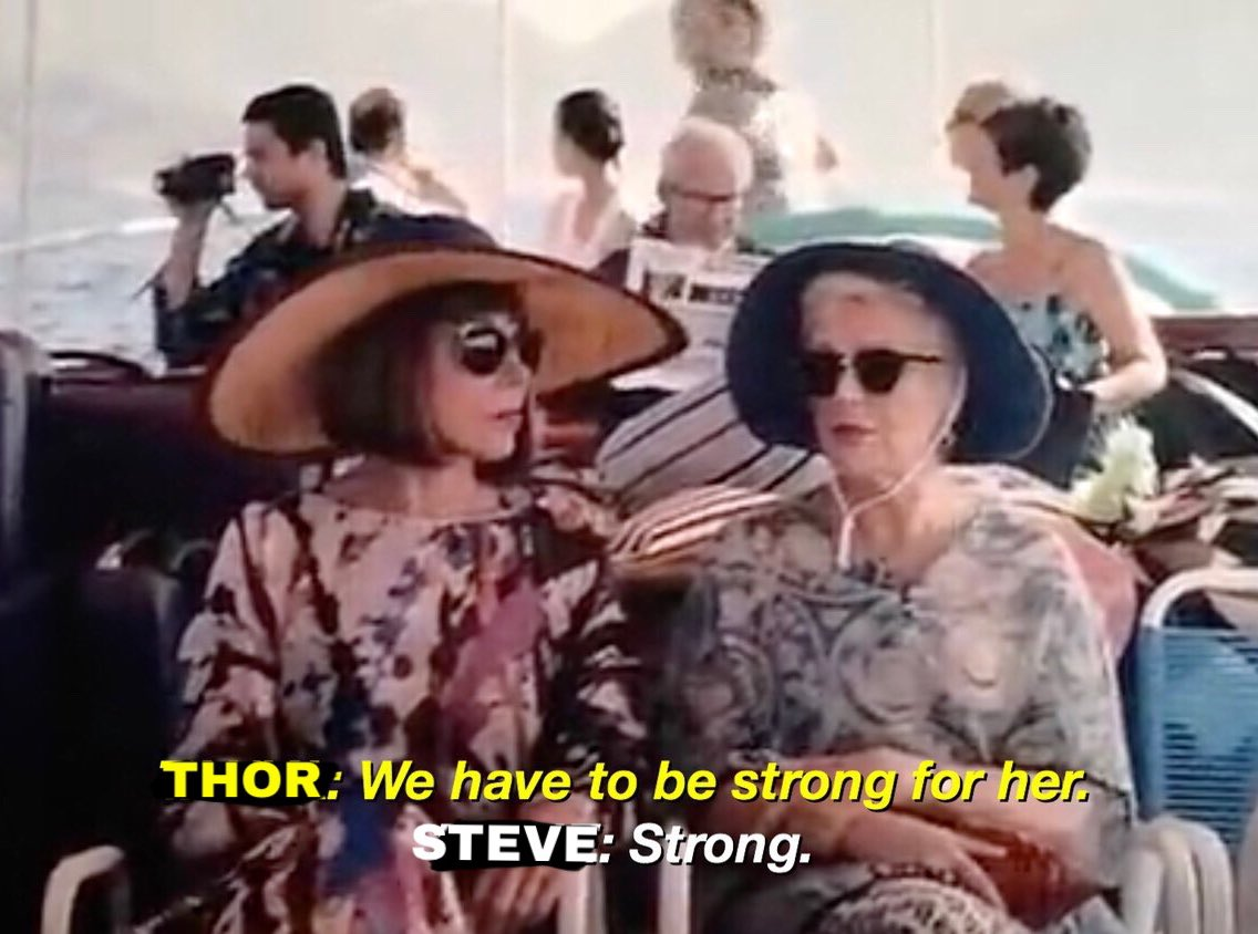 Thor and Steve on their way to meet captain Marvel