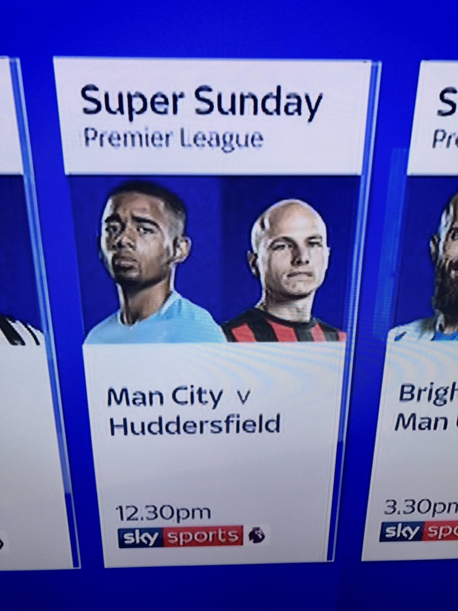 CONSPIRACY THEORY  Sky Sports have gained access to top secret information that Aguero will be rested.  Forcing them to use Jesus for their advertising.  Haters will say it&#39;s coincidence. <br>http://pic.twitter.com/2XxRSp1DQP