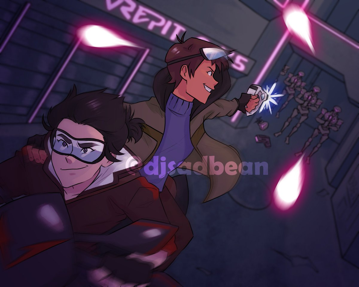 #Leakira Cyberpunk AUs are too cool not to draw :D <br>http://pic.twitter.com/7UGDkiv0dN