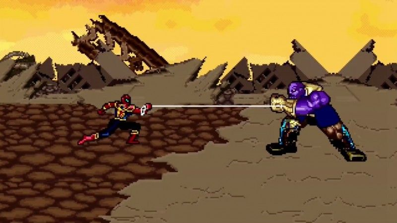 Animator Reimagines The Avengers' Climactic Battle Against Thanos With 16-Bit Graphics https://t.co/n28qWY5nPe