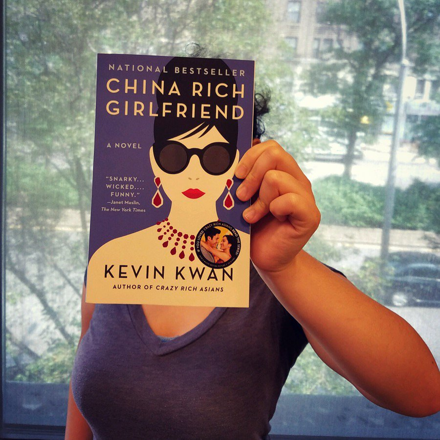 ✔️Read Crazy Rich Asians ✔️ Watch #CrazyRichAsians ✔️ Immediately pick up the rest of the series for more adventures! #BookfaceFriday