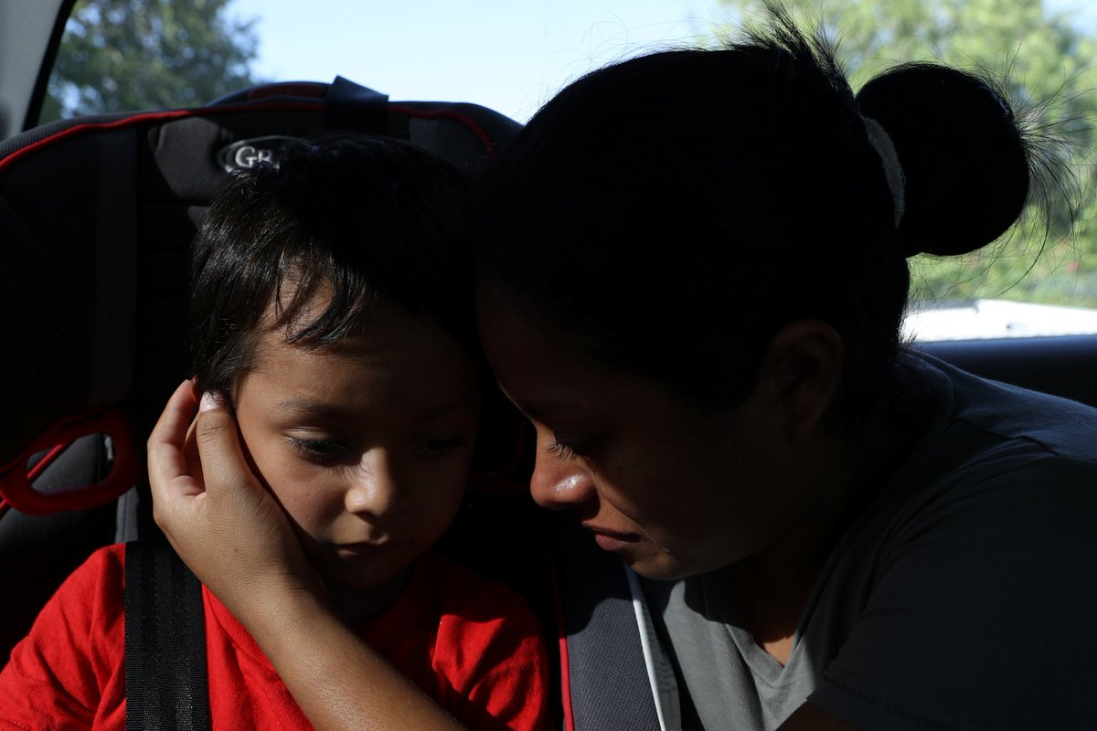 A federal judge ordered a freeze on deporting families who were separated at the border, after some parents said they were tricked or coerced into signing documents agreeing to deportation and/or waiving reunification rights. <br>http://pic.twitter.com/VAfwHMaTpP