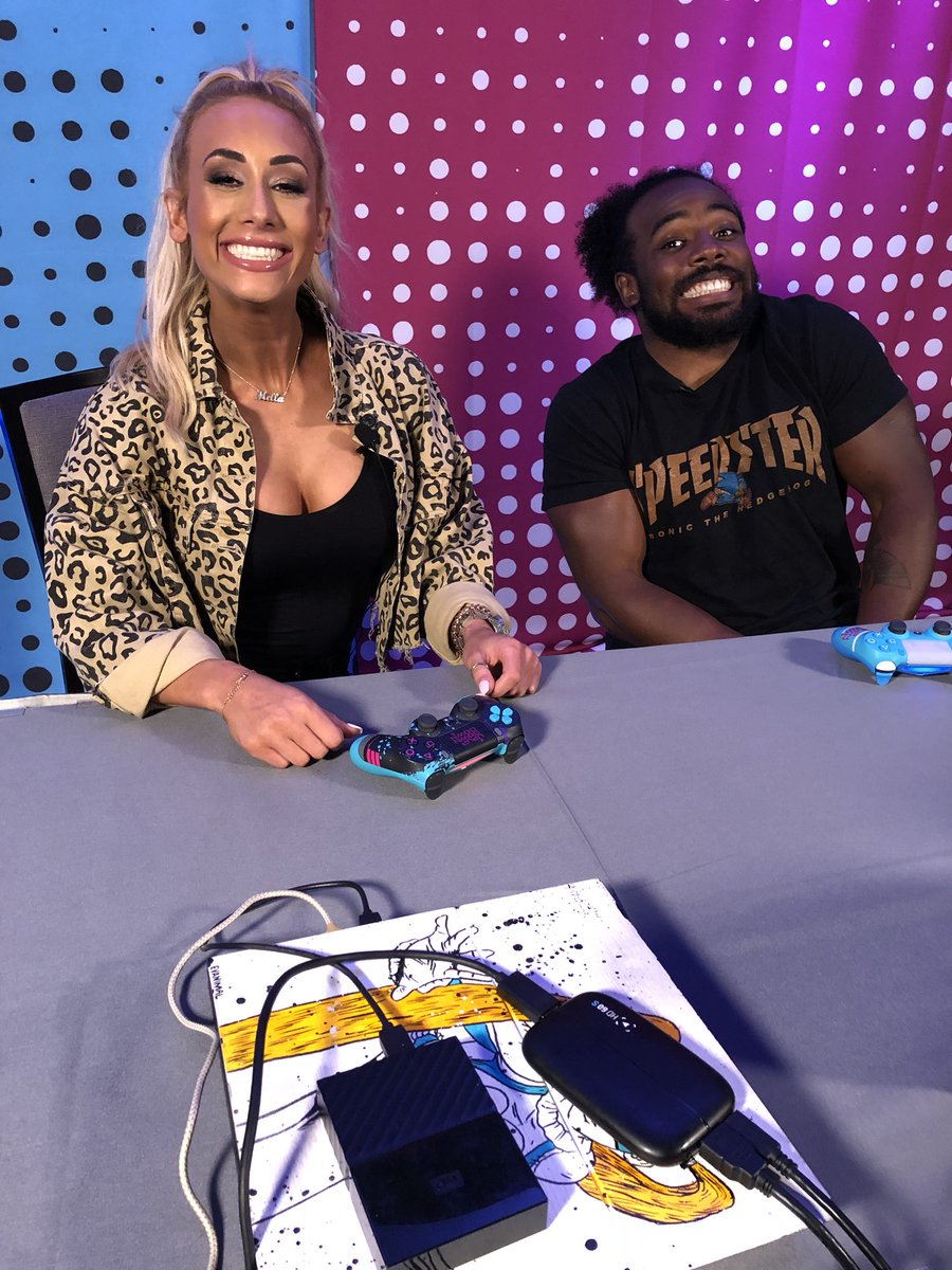 #UUDD is MONEY... when @CarmellaWWE stops by to hang with @XavierWoodsPhD! #SummerSlam