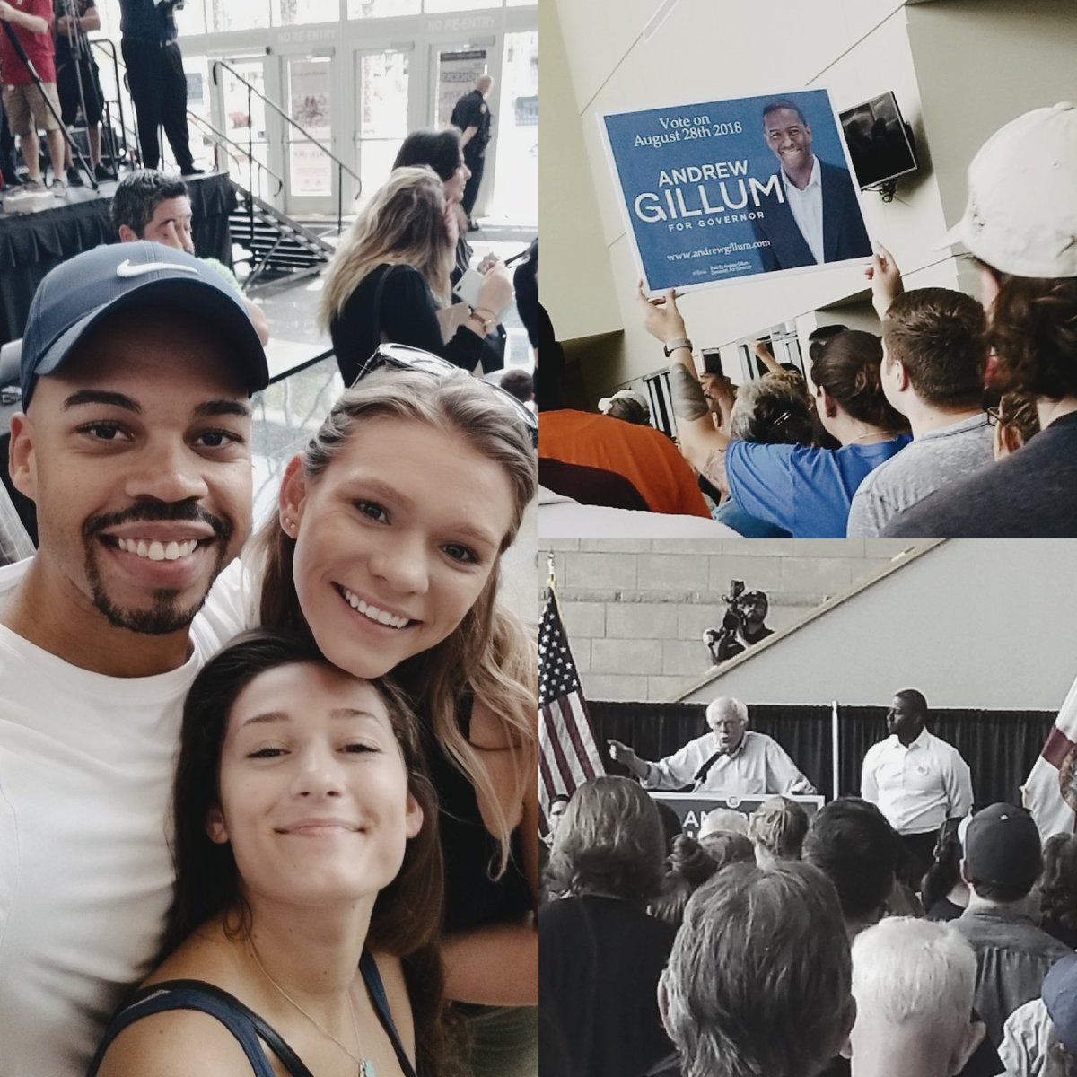 We took my niece to her first campaign rally today. Supporting @AndrewGillum for governor of Florida. Don&#39;t forget to vote! August 28th. #GillumForGovernor #GetOutTheVote @maddypope716 @Mr_WeSt504<br>http://pic.twitter.com/P7y5WYF5SQ