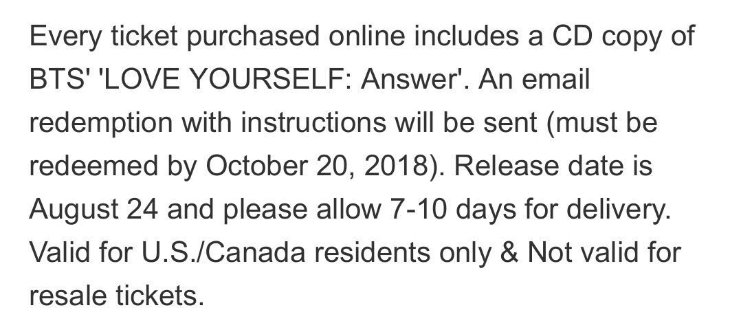 For those that bought tickets to Citi Field stop don't forget to redeem your album ASAP to help for first week sales! #BTSCitiField<br>http://pic.twitter.com/Qs2XdmJo3G