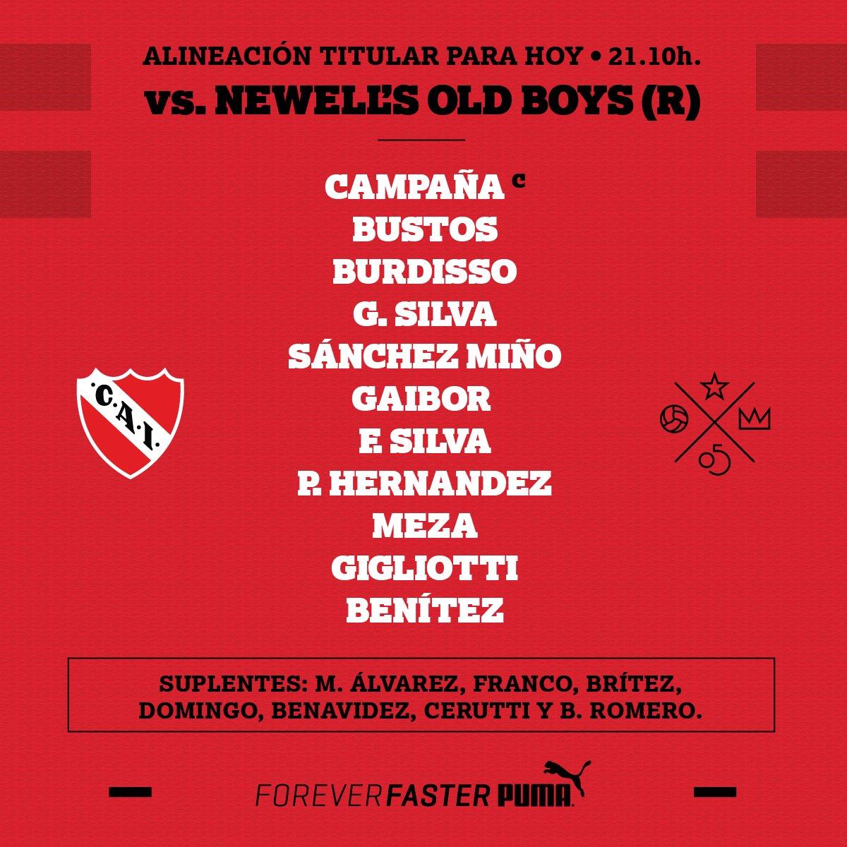 ¡Los 11 para el debut en la @argsaf #ElÚnicoRey está listo. #TodoRojo 🔴