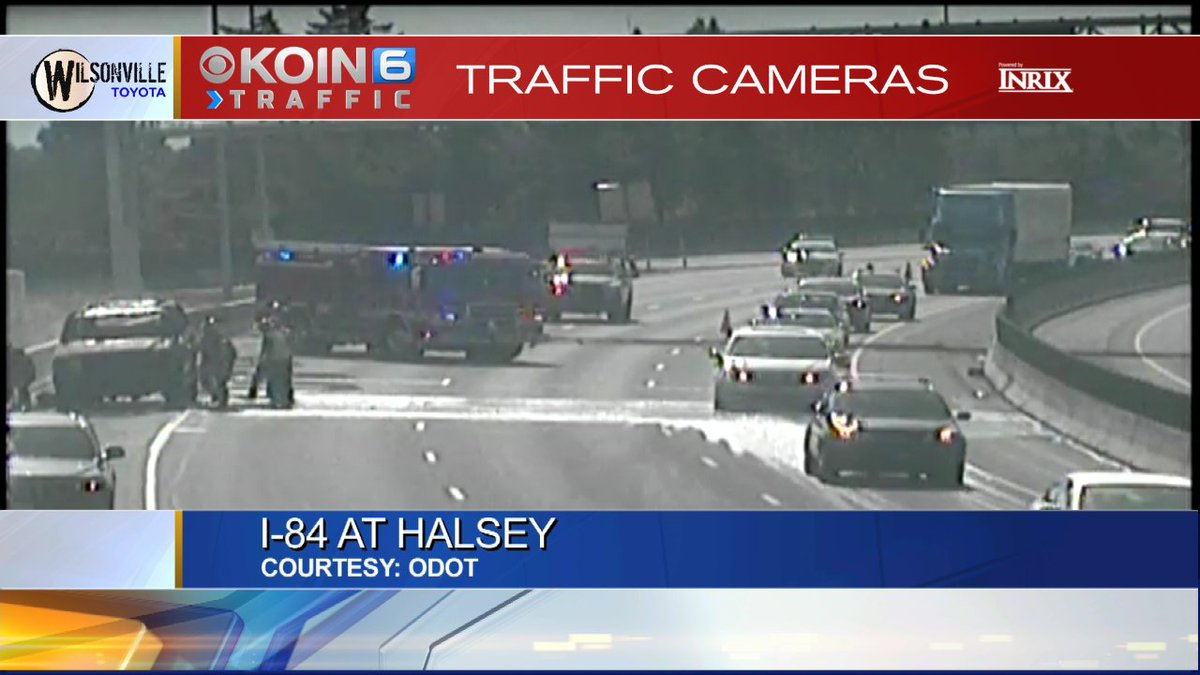 CRASH: I-84 EB at I-205, only the left lane is getting by. #pdxtraffic #koin6news<br>http://pic.twitter.com/Erbqvwo1sK