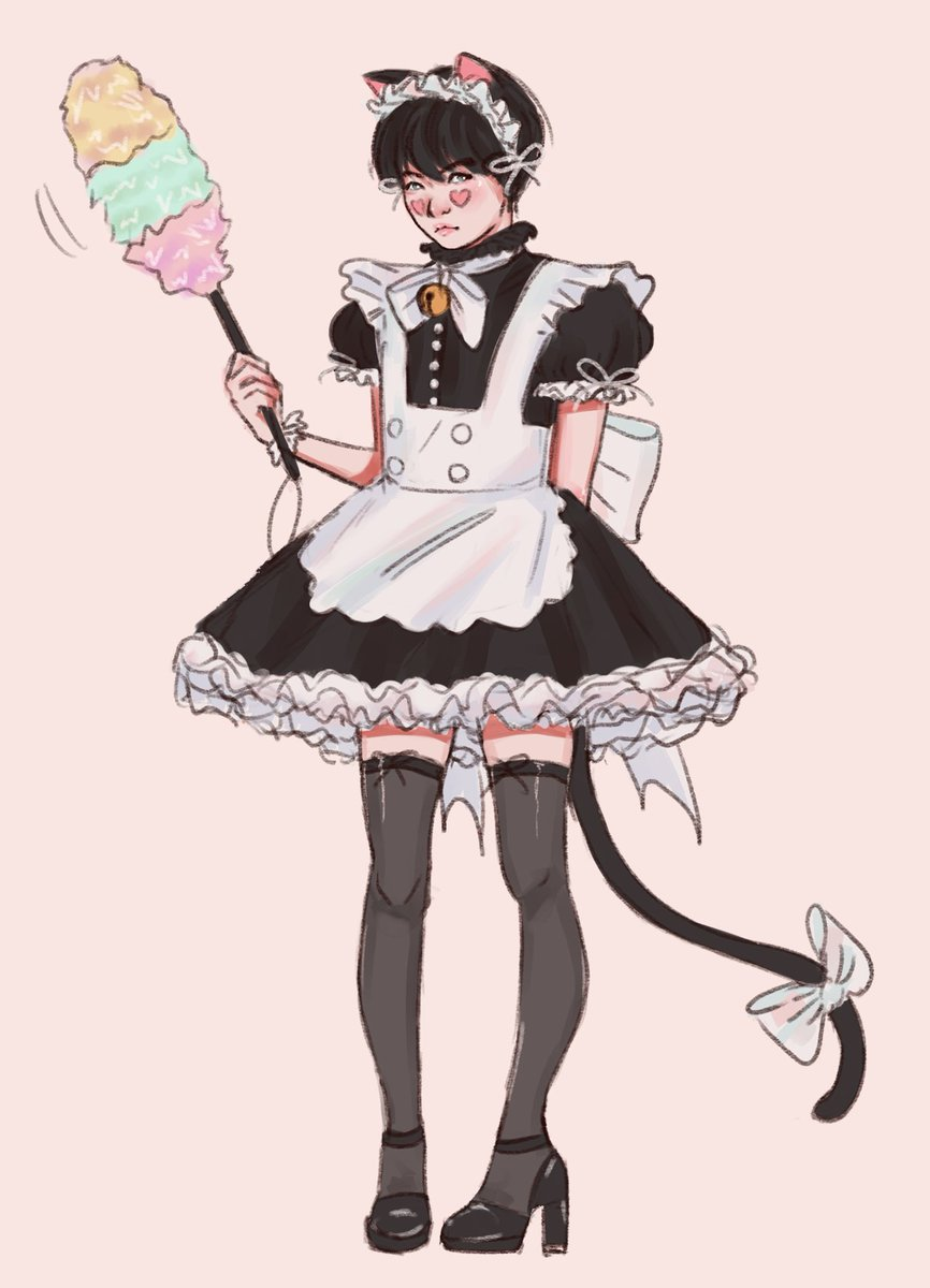 kitty maid at your service here to clean your mess~   this was inspired by @cianbom beautiful kitty maid art  https:// twitter.com/cianbom/status /1009802863126745088 &nbsp; …  i ended up obsessed with the idea i wanted to draw one myself <br>http://pic.twitter.com/jhuxqQmbng
