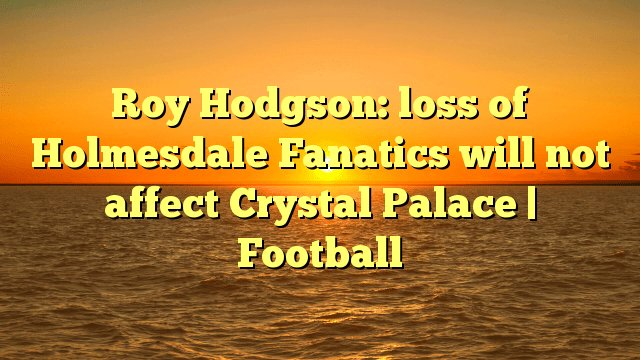 Roy Hodgson: loss of Holmesdale Fanatics will not affect Crystal Palace | Football Photo