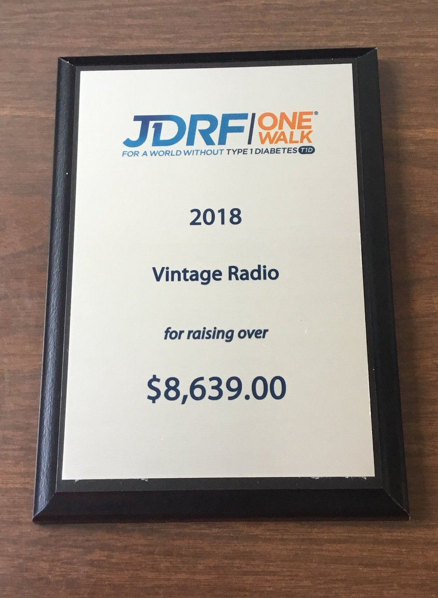 Thank you all for helping Vintage Radio raise over $8,639.00 this year for Quad Cities JDRF! #onewalk #jdrf #juvenillediabetesresearchfoundation #type1 <br>http://pic.twitter.com/mIdtNzc6py