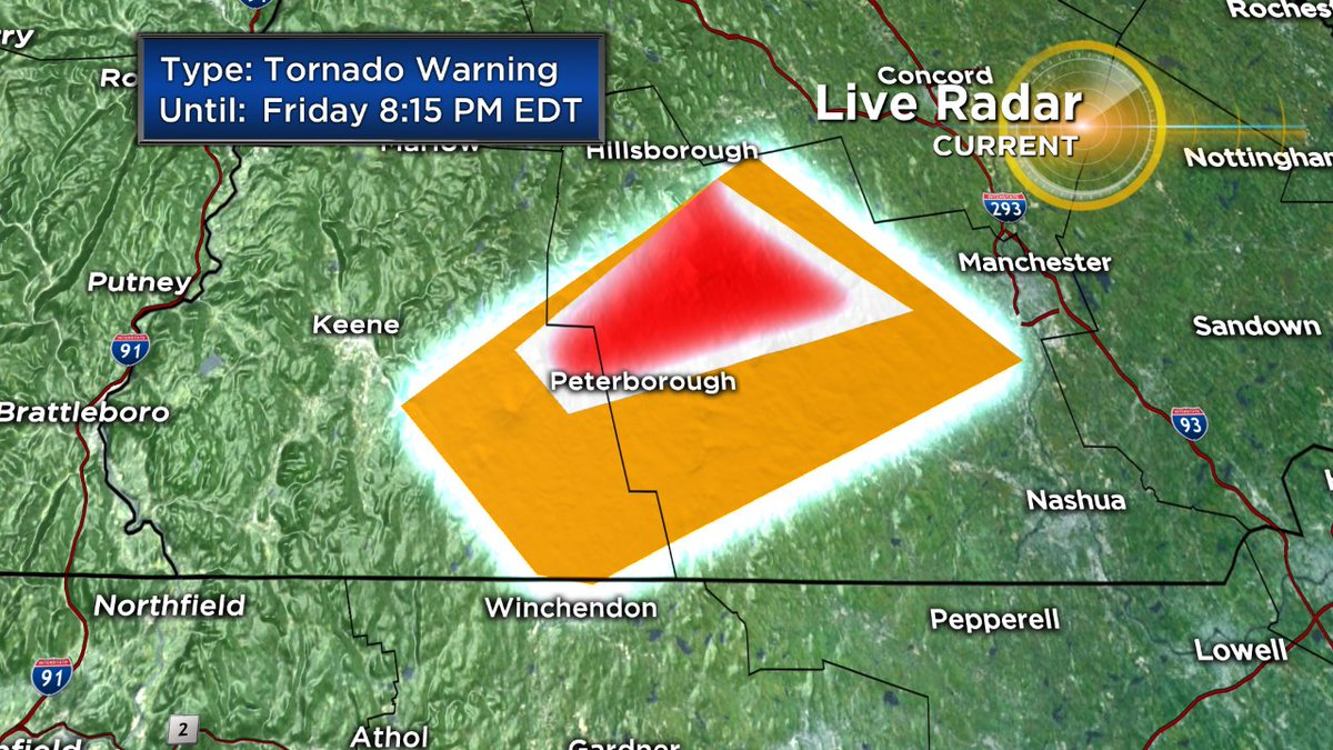 Tornado warning for Cheshire &amp; Hillsborough County in NH until 8:15. Seek shelter NOW! #WBZ<br>http://pic.twitter.com/uOY9UnP4tu