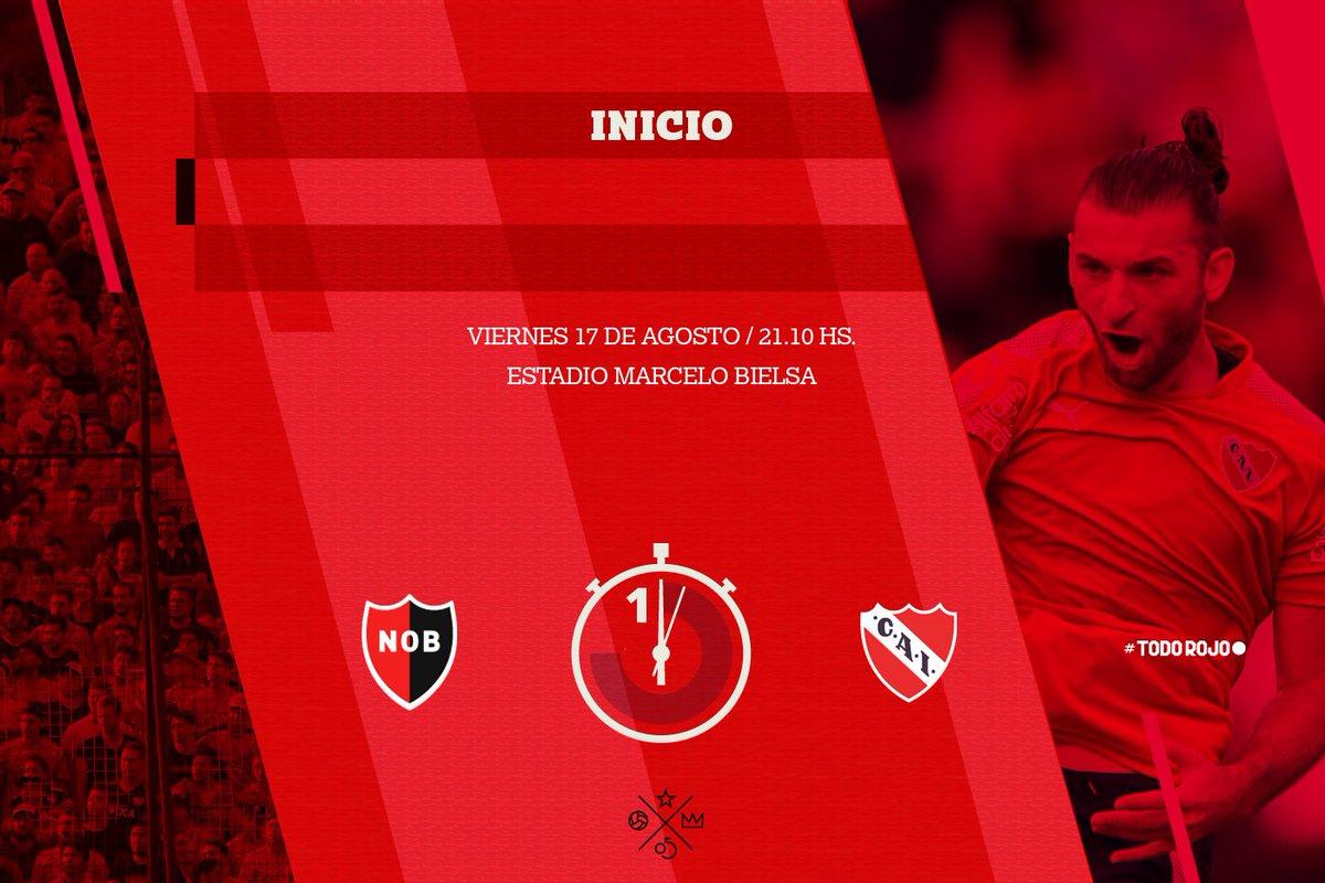 ¡Ya se juega en Rosario! A arrancar con todo, Rey #TodoRojo 🔴