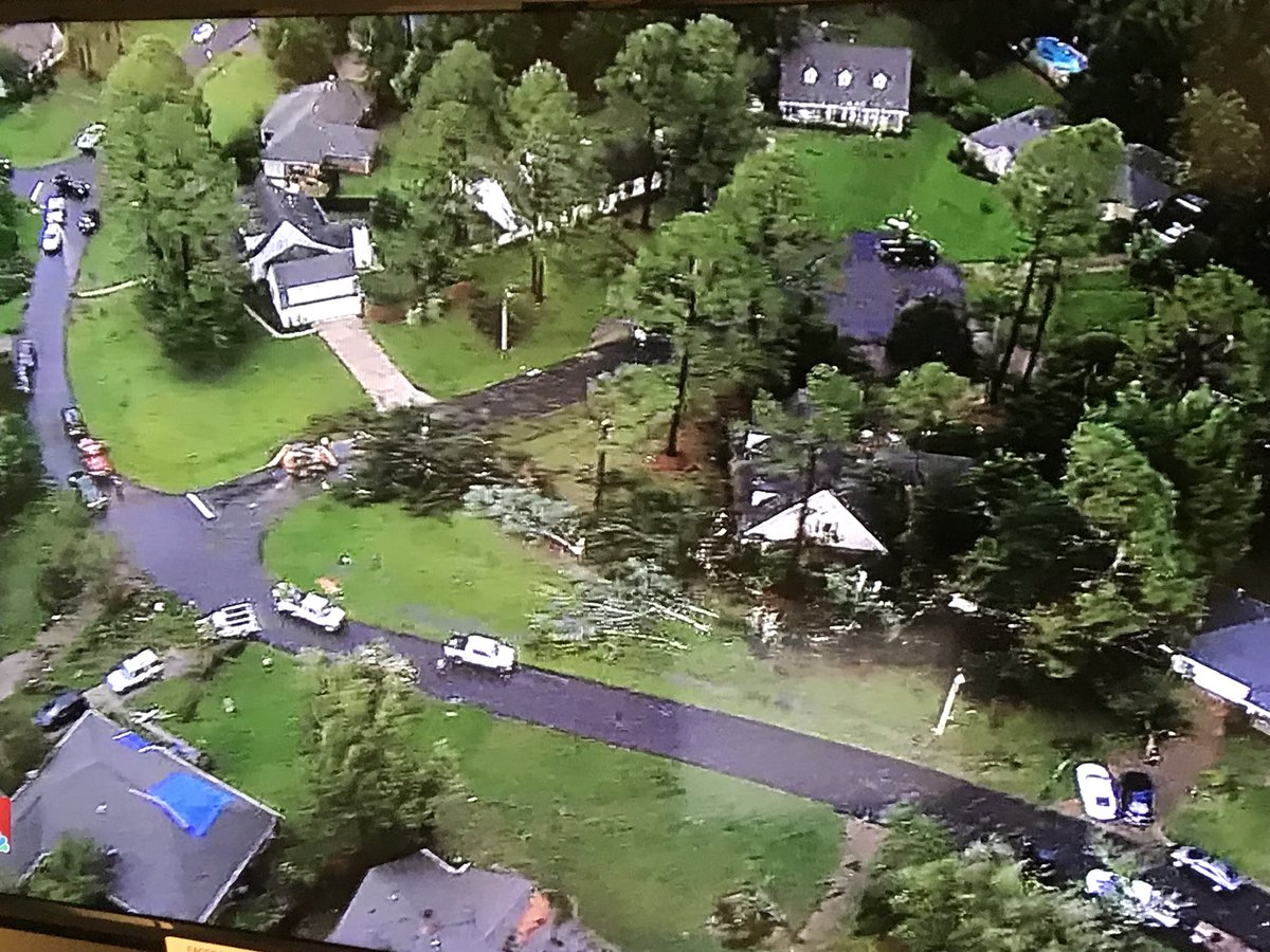 BREAKING: Severe storms cause damage in Madison. Exclusive @SkycopterMS video tonight on @WLBT &amp; @Fox40News. #MSwx<br>http://pic.twitter.com/Pu8RyeZ4Vy