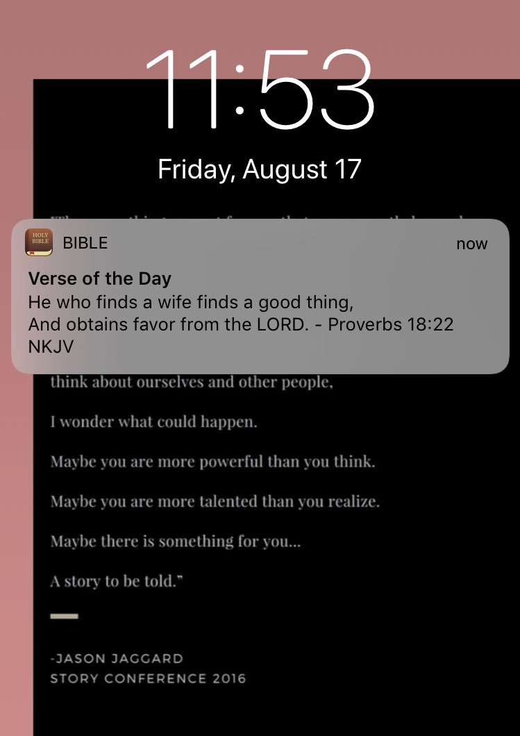 signed up to get a verse of the day and this is the first one that i get. so this is clearly going to be helpful.