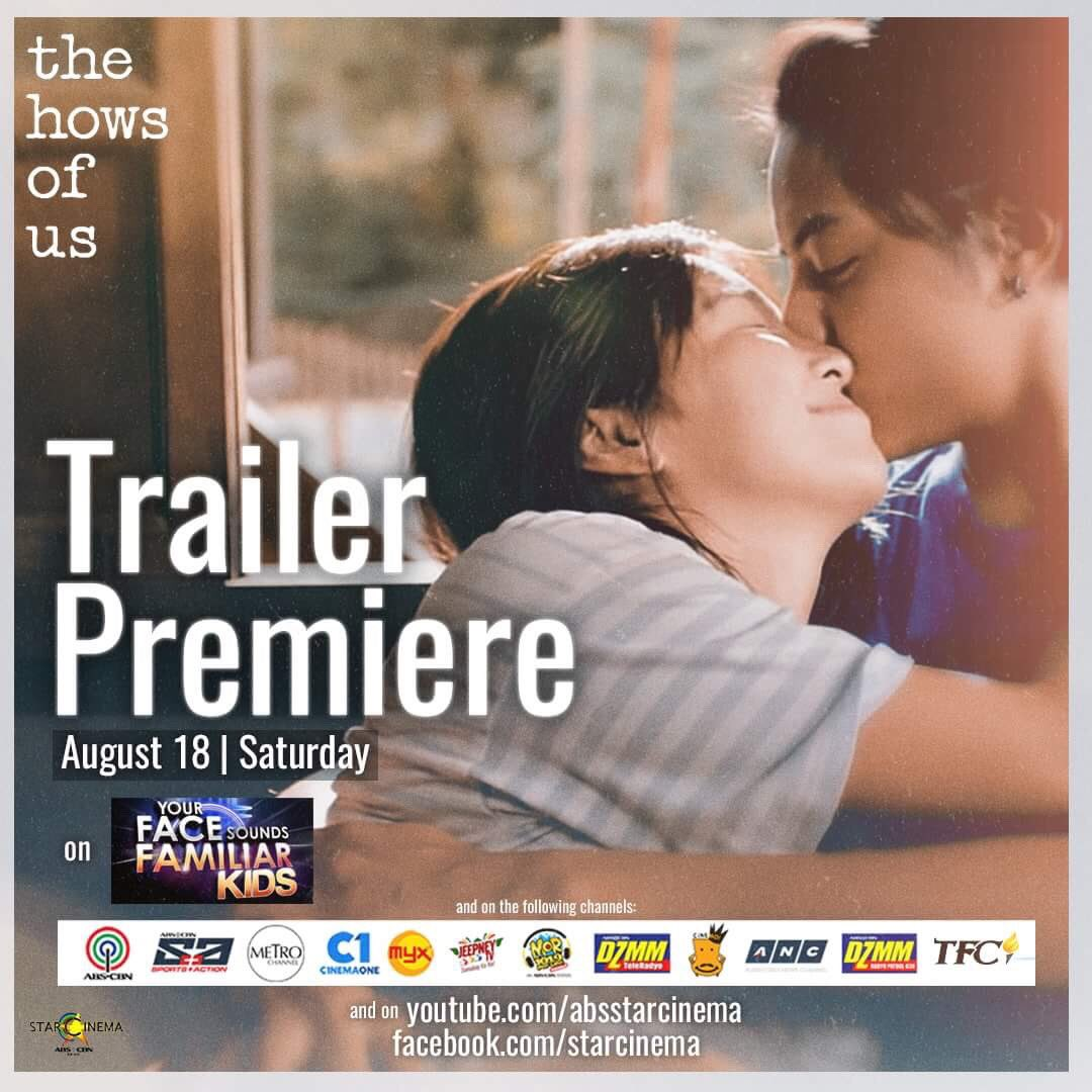 #TheHowsOfUsTrailer Premiere! Abangan mamaya sa Your Face Sounds Familiar and on the following channels listed below.  <br>http://pic.twitter.com/6fAl5Fhoi7