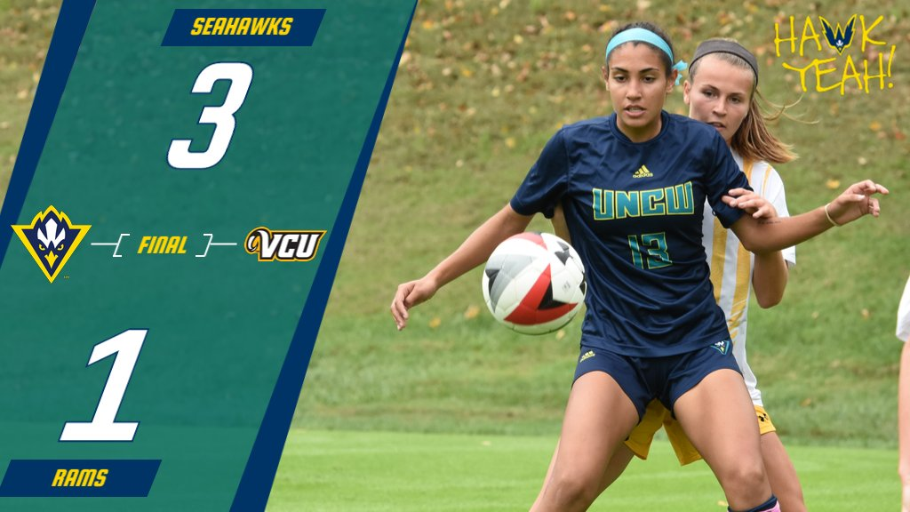 SEAHAWKS WIN!! SEAHAWKS WIN!! #UNCW gets its first win of the season with a 3-1 victory at VCU. #HawkYeah #WingsUp<br>http://pic.twitter.com/QdS2uhGzUR