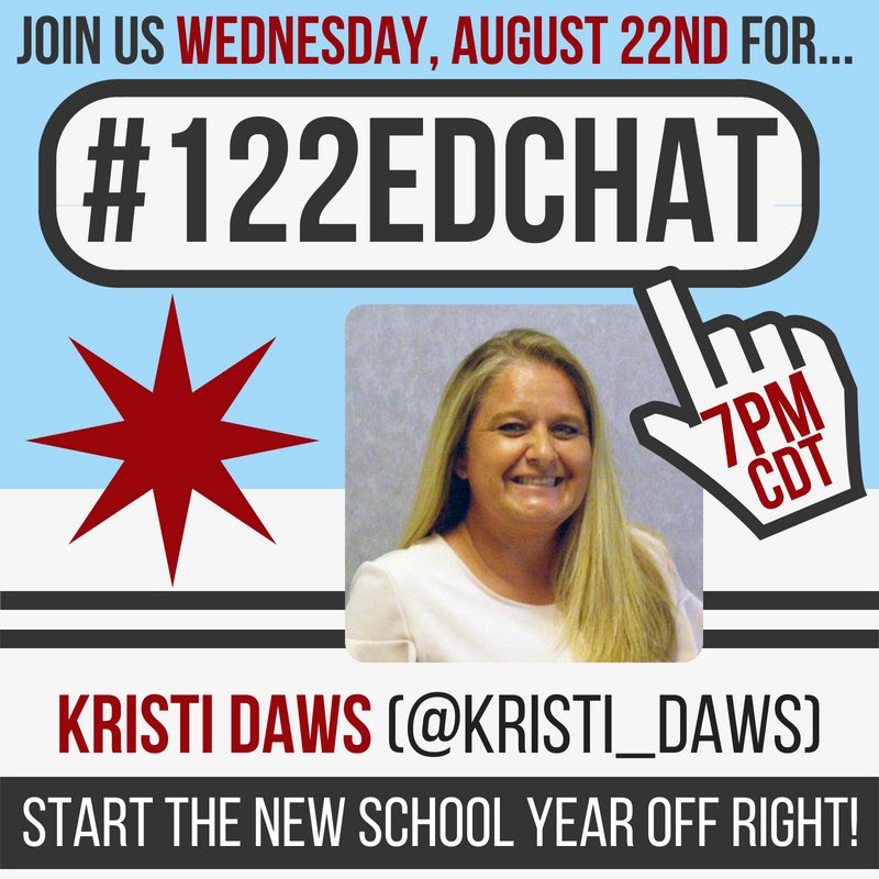 I hope you will all join me next week for #122edchat #4OCFpln