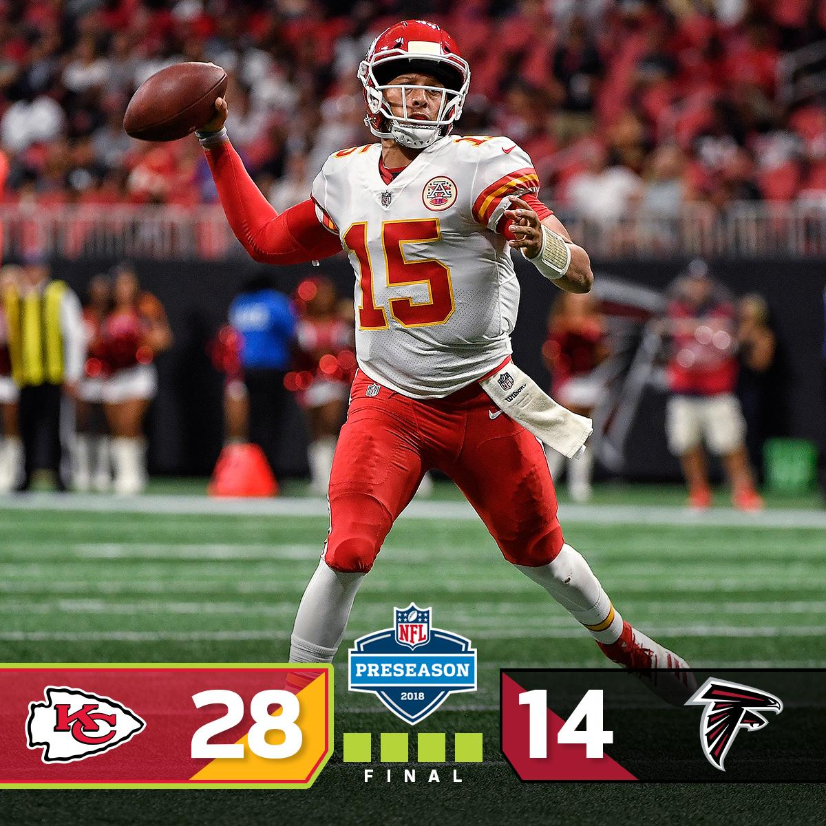 FINAL: The @Chiefs WIN in Atlanta! #KCvsATL https://t.co/1TdiEWkwF6