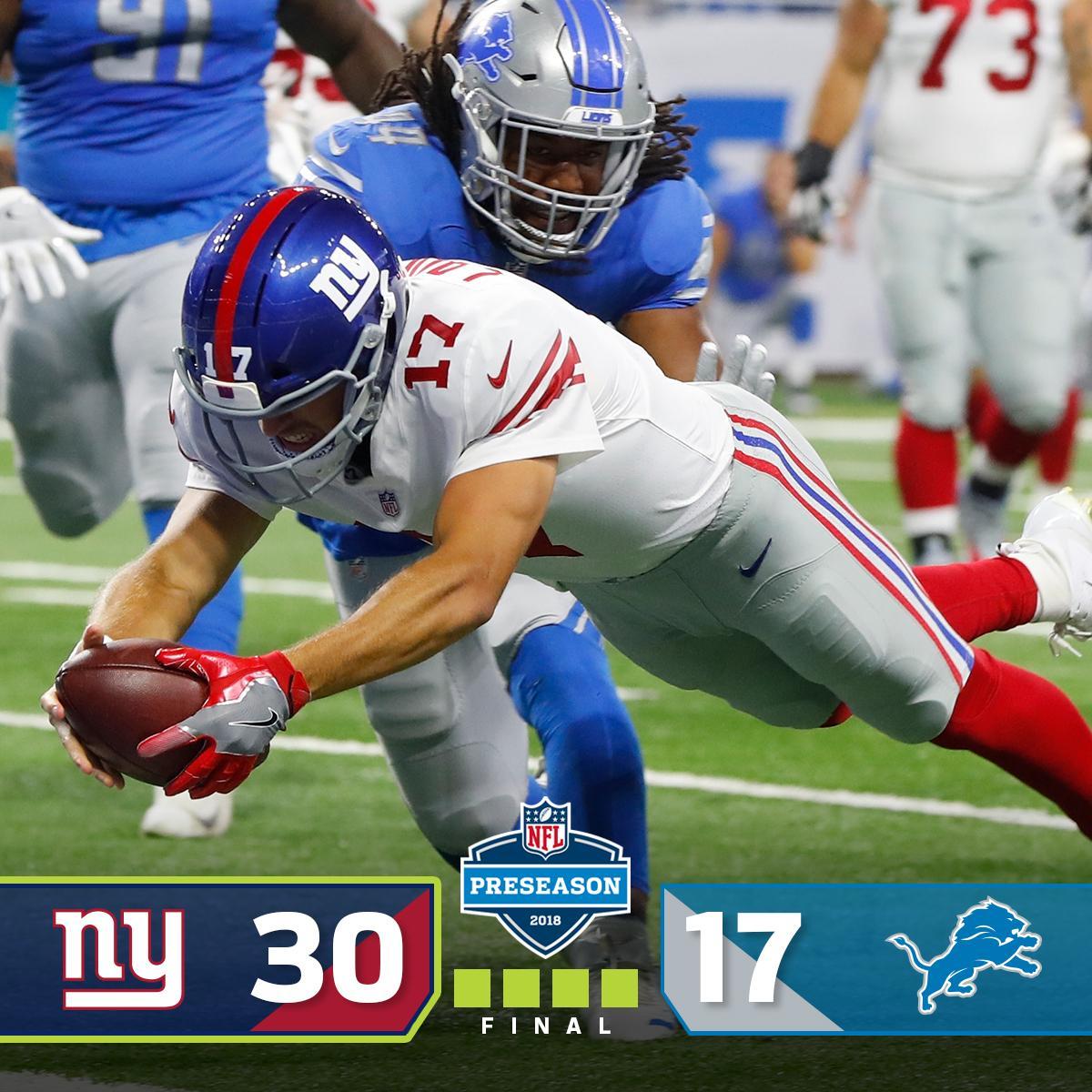 FINAL: @Giants get the preseason WIN! #NYGvsDET https://t.co/zF2SFgrC9p