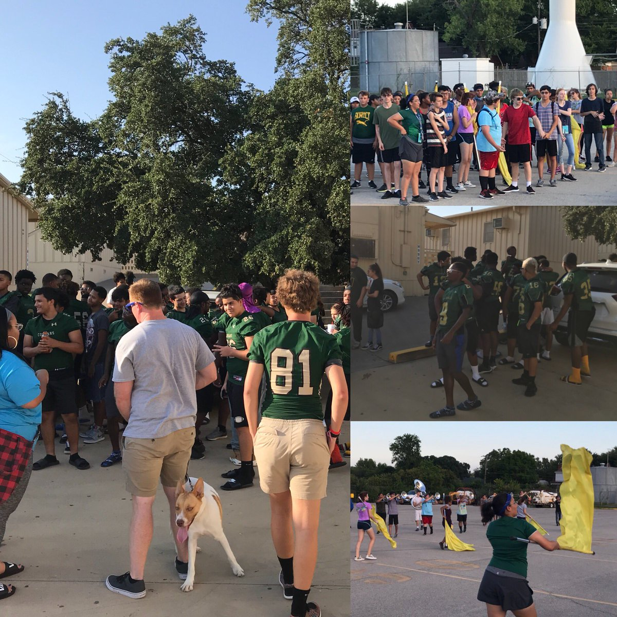 Cougar Football Watermelon Fest & Parent Preview Night with the band! #cougarfamily #wearewesternhills