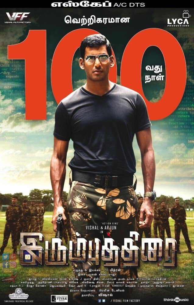 Happy to be a part of this genuine success #IrumbuThirai100days.wat a victory.congrats to my lovely team.@Psmithran @george_dop @thisisysr @Samanthaprabhu2 @akarjunofficial @dhilipaction @AntonyLRuben #umesh @iamrobosankar @LycaProductions @thinkmusicindia gb https://t.co/3KYoePtL6L
