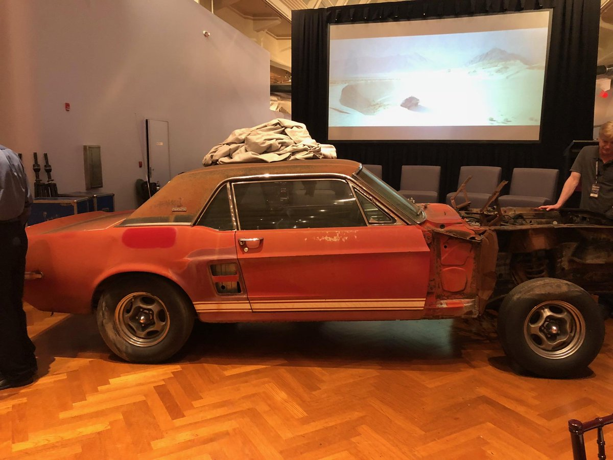 The long lost 1967 #Shelby #Mustang Notchback Prototype &quot;Little Red&quot; has been found! Craig Jackson discovered the car, thought to be crushed, in Texas. It was unveiled at a private event this evening at the Henry Ford Museum. Read more:  http:// bit.ly/2MW2OLV  &nbsp;   #Ford #DriversClub<br>http://pic.twitter.com/Vua1MrT019