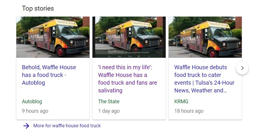 Waffle House On Twitter It Is A Food Truck Weve Had It For