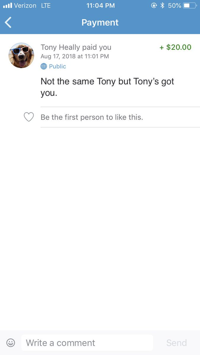 Tony, another Tony stepped in for you but I'm still expecting something light from you @txnyg