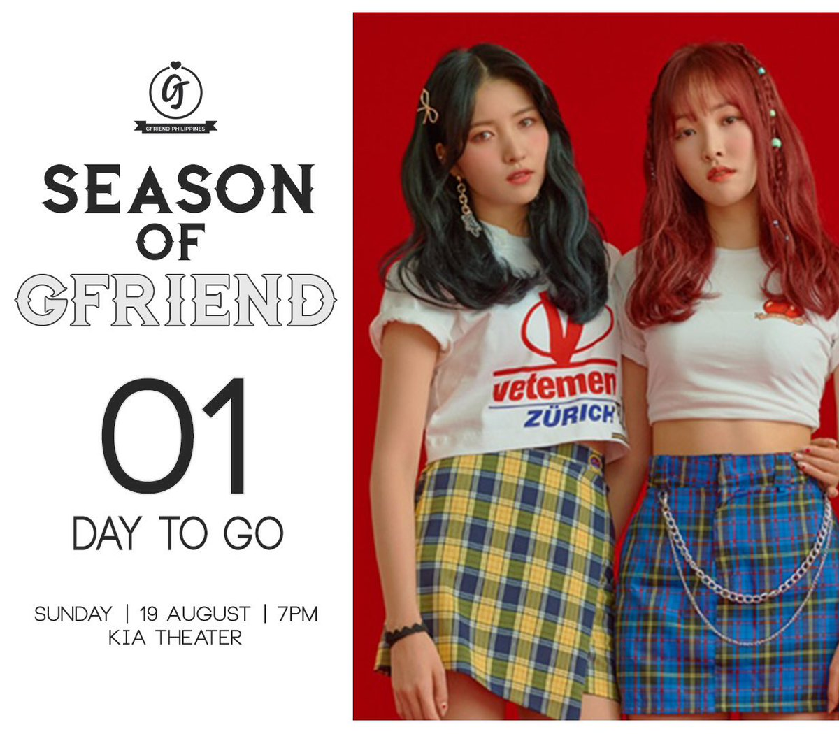 [D-1]  Let&#39;s pray for a nice weather and a safe flight for our girls. We will drop the instructions regarding the banner project tonight. Please stay tuned. See you tomorrow!   #SeasonofGFriendinManila<br>http://pic.twitter.com/aCYXlcGfxe