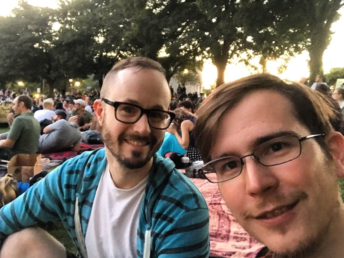 Preparing for Sister Act in the park. What did we do to deserve this perfect film?