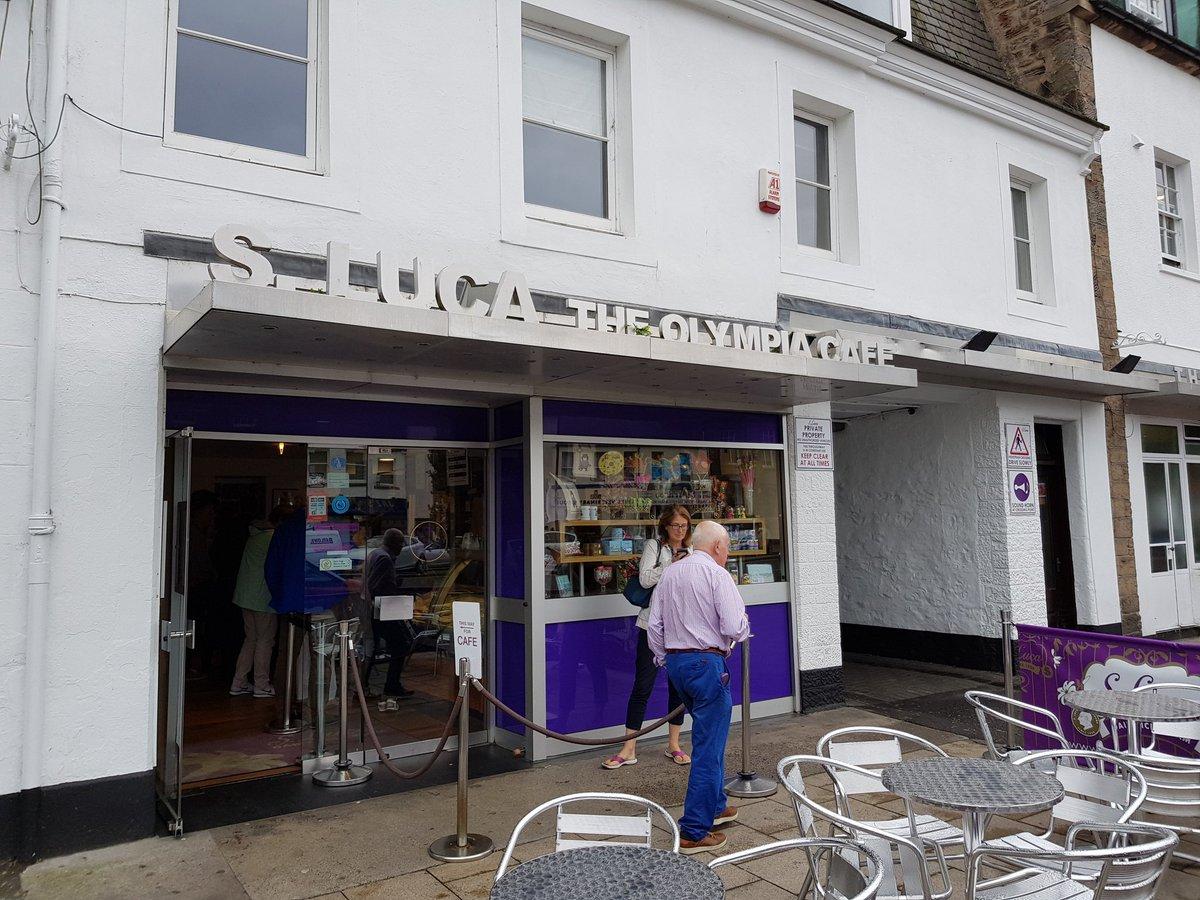 Olympia cafe San Luca Musselburgh #Edinburgh . Coffee. Gelato. Chocolate. Whats not to like?