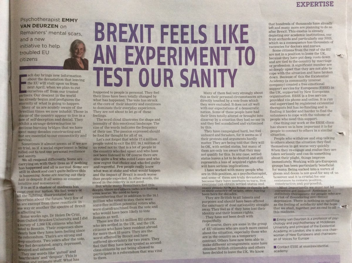 """Wir dürfen es nicht zulassen, dass Menschen als Kollateralschaden gesehen werden.@BPSOfficial @emmyzen,professor of psychotherapy @MiddlesexUni""""Sometimes it almost seems as if we are on trial,as if a social experiment is being rolled out to test our personal resilience &amp; sanity."""" <br>http://pic.twitter.com/HGWUJF6KXx"""