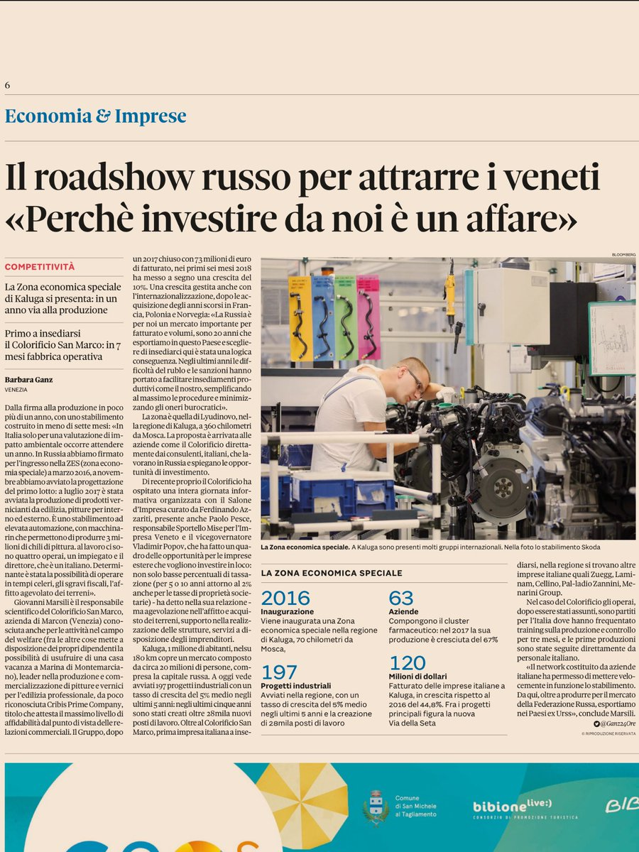 Modello #Veneto per le #ZES russe. #investimenti #MadeInItaly #Italia #Russia (via @sole24ore )  - Ukustom