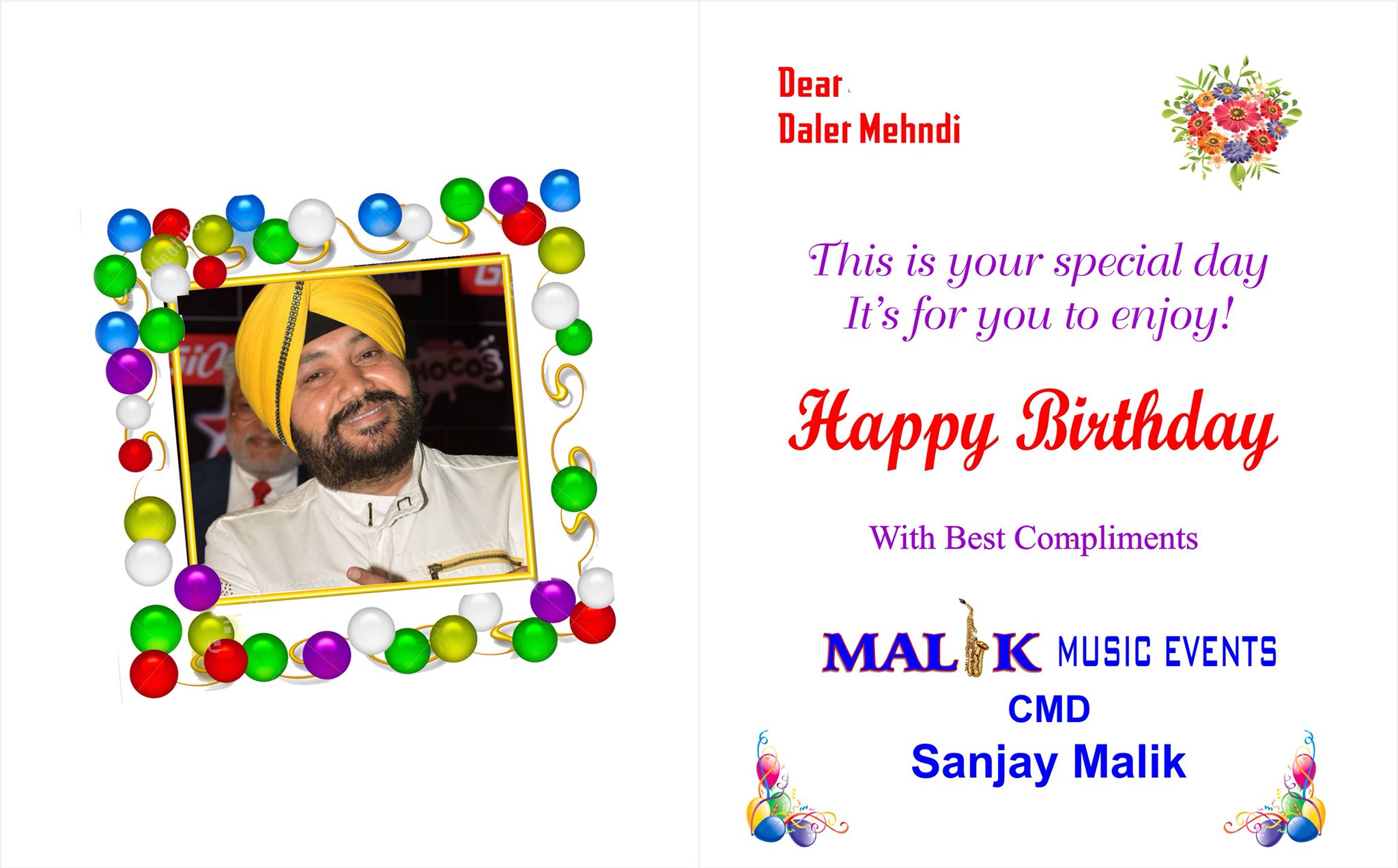 The golden voice singer daler mehndi sahab happy birthday