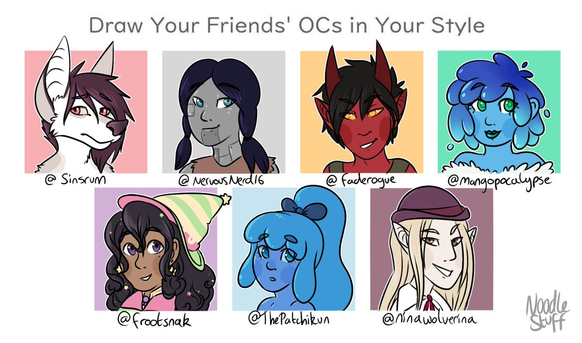 Grace On Twitter Draw Your Friends Ocs Meme Finished Thank