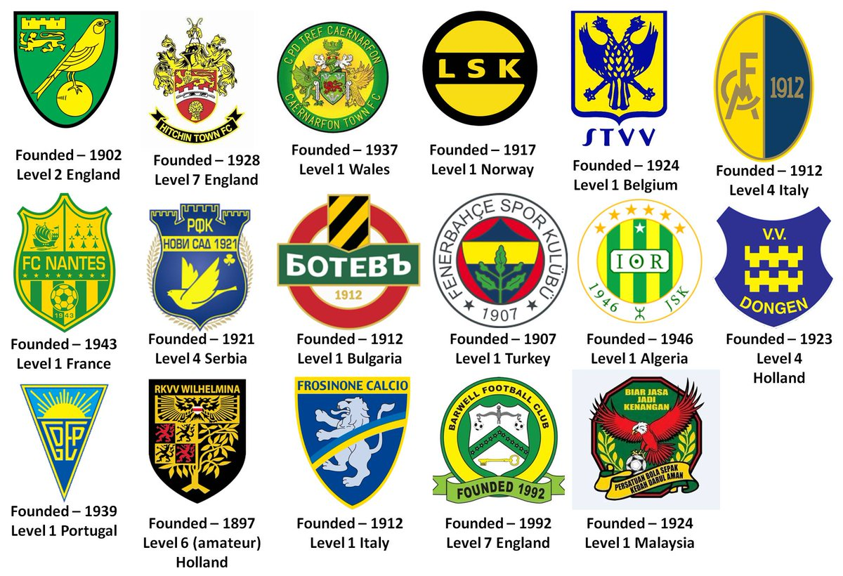 *Game Day* There&#39;s a world of #Canaries to follow besides #NCFC @NorwichCityFC @HitchinTownFC @BarwellFC1992 @CaernarfonTown @LillestromSK @stvv @FCNantes @estorilpraiasad @botev_plovdiv @Fenerbahce_EN @JSK_Offishal @Wilhelminiaan @vvdongen @Frosinone1928 @ModenaFC_1912 @MEDIAKFA<br>http://pic.twitter.com/YCG80s0unq